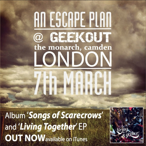 An Escape Plan live tonight at The Monarch, Camden