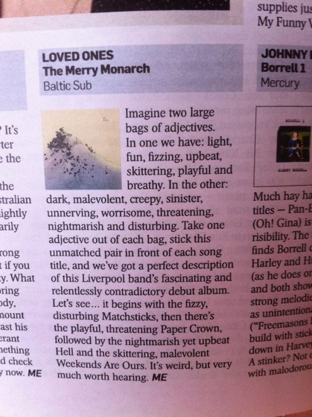The Sunday Times Review - Loved Ones
